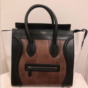 Celine Mini Luggage Phantom bag